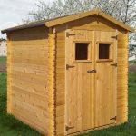 Gartenhütte Holz Purgstall – 2,20 x 2,20 Meter aus 19mm Blockbohlen