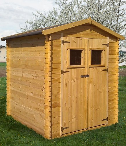 gartenh tte holz purgstall 2 20 x 2 20 meter aus 19mm blockbohlen. Black Bedroom Furniture Sets. Home Design Ideas