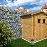 Gartenhütte Holz Wieselburg – 2,00 x 2,50 Meter aus 19mm Blockbohlen