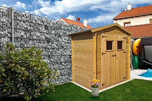 gartenhuette holz wieselburg 200 x 250 meter aus 19mm blockbohlen - Gartenhütte Holz Wieselburg - 2,00 x 2,50 Meter aus 19mm Blockbohlen