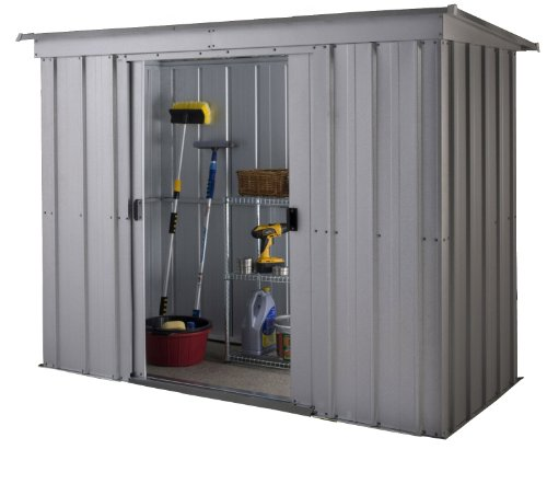 yardmaster international 64pz 6 x 4 ft store all silber pultdach mit schieferdach metall schuppen - Yardmaster International 64PZ 6 x 4 ft store-all Silber Pultdach mit Schieferdach Metall Schuppen