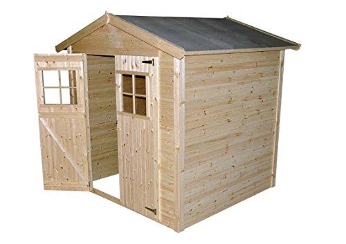 gartenhuette amstetten 206 x 206 meter aus 16mm blockbohlenhaus - Gartenhütte Amstetten - 2,06 x 2,06 Meter aus 16mm Blockbohlenhaus
